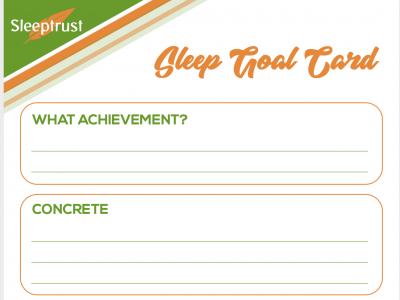 sleep goal card